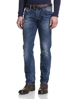 Rockstar Denim Men's Slim Fit 5 Pocket Distressed Jeans (Medium Tint)