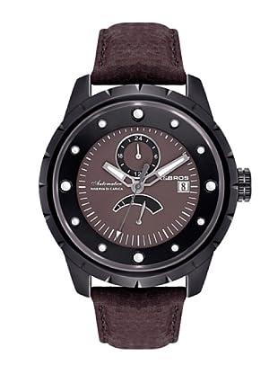 K&BROS 9444-3 / Reloj de Caballero  con correa de piel Marrón
