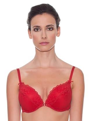 Women secret Sujetador Relleno Push Up Lace Copa C (Rojo)