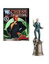 DC Superhero Lex Luthor Black King Chess Piece and Magazine