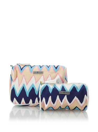 Julie Brown Set of 2 Cosmetic Bags (Blue Charlie)