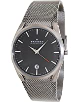 Skagen Aktiv Analog Black Dial Mens Watch - SKW6010