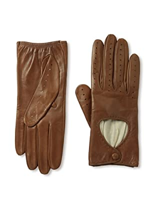 Portolano Women's Silk-Lined Driving Gloves (Tobacco)