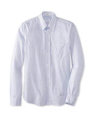 GANT Rugger Men's Tattersall Buton-Up Shirt (Capri Blue)