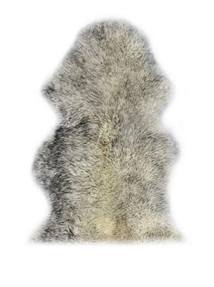Natural Brand New Zealand Sheepskin Rug, Gradient Grey 2' x 3'