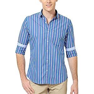 Van Heusen Men's Slim Fit Cotton Shirt [14940_Blue_44]