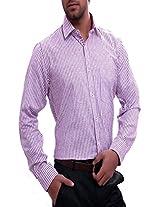 La MODE Moov Striped Formal Shirt(LA00470B-M_Moov_Medium) [Apparel]