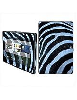 BlackBerry Playbook Vinyl Protection Decal Skin Black Blue Zebra