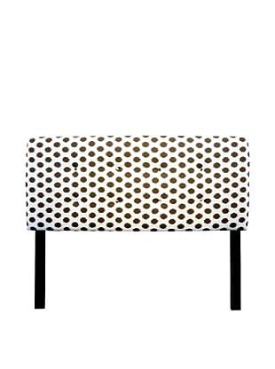 Sole Designs 8-Button Tufted Jojo Headboard (Brown/White)