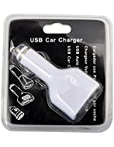 Vismiintrend BI109 4-in-1 Car USB Phone Charger (White)