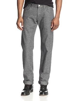 Agave Men's Pragmatist Straight Fit Italian Flannel Jean In Gray (Gray)