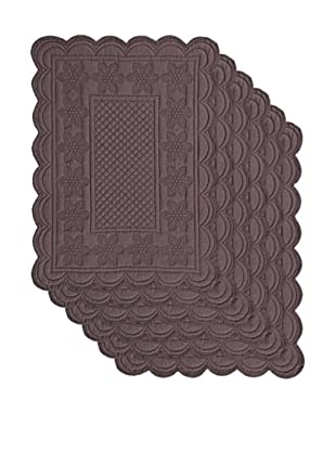 Couleur Nature Set of 6 Sonia Placemats, Espresso