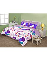 Birla Century Optima Cotton Double Bedsheet with 2 Pillow Covers - Multicolor
