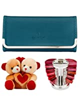 Glitters Twin Head Cream Teddy-Clutch-Lipstick Combo