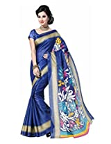 Clickedia Women Bhagalpuri Cotton Beautiful Saree With Attached blouse Pc