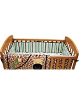 Lambs & Ivy Peek A Boo Jungle Mini Crib Bumper, Multicolor