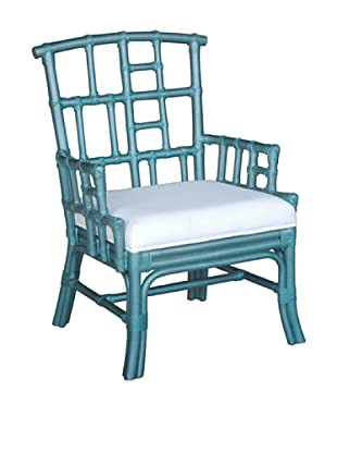 Jeffan Paxton Occasional Chair, Blue Metallic