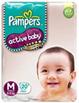 Pampers Active Baby Diapers Medium 20 Pieces (6 to 11 kg)