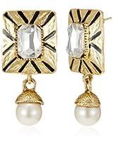 Ava  Drop Earrings for Women (Golden) (E-VS-1914)