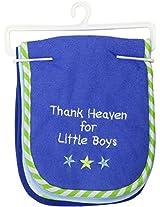 Luvable Friends Baby Burp Cloths, Blue Star, 3-Count