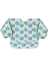 Dr. Seuss Bumkins Sleeved Bib, Blue Grinch