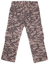 Bio Kid Boys' 5-6 Years Cargo Pants (Brown Camo, 116 Cms )