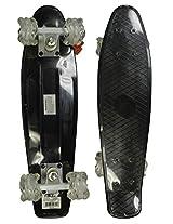 "RETRO BOARDS Youth Black LED Square Series Skateboards, Black, 22"""