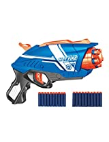 Blaze Storm Manual Soft Bullet Gun with 20 Foam Bullets and Suction Darts for Kids Ages 6+ Years