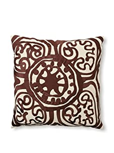 Trina Turk Embroidered Rustic Medallion Pillow (Brown)