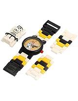 LEGO Kids' 9004339 Star Wars Stormtrooper Plastic Watch with Link Bracelet and Figurine