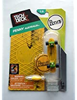 2014 Penny Australia Yellow Tech Deck Mini Finger Skateboard #1/8 with Display Stand