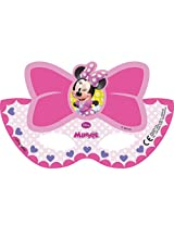 Disney Minnie Bow Tique Die Cut Paper Masks, Multi Color