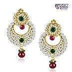 Sukkhi Chandbali Gold Plated Australian Diamond Earrings [Jewellery]