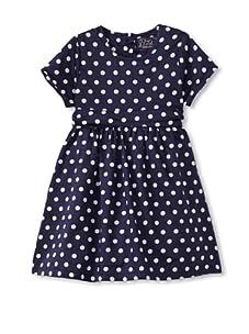 KANZ Girl's Short Sleeve Dress (Navy)