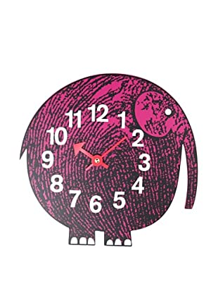George Nelson Zoo Timer Elephant Wall Clock, Purple
