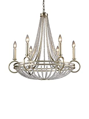 Artistic Lighting New York 6-Light Chandelier in Renaissance Silver
