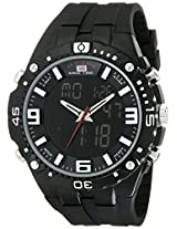 U.S. Polo Assn. Sport Men's US9174  Black Silicone Analog Digital Sport Watch