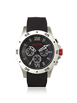 red line Men's 60029 Spark Black Rubber Watch