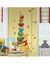 RoomMates Pooh and Friends Growth Chart Metric (Multi Color)