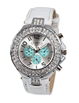 Exotica Fashions Ladies Watch - EF-N-07-White-Light Green