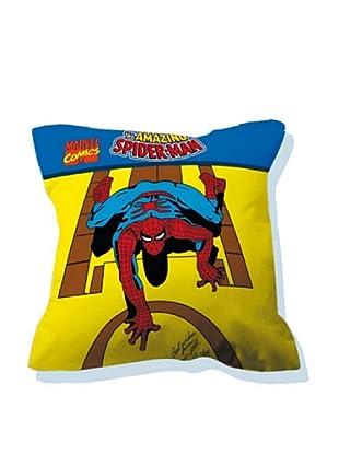 Euromoda Licencias Cojín con Relleno Spiderman  1 (Amarillo / Azul)