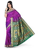 ISHIN Paithani Tana Silk Voilet Saree STCS-64