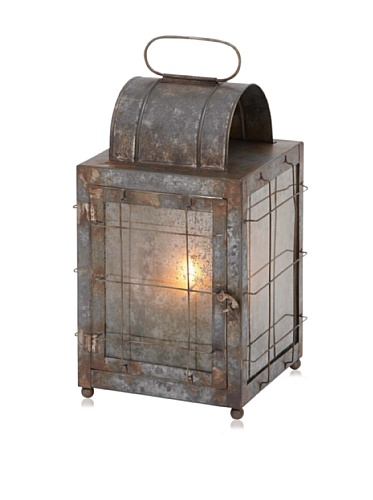 Industrial Chic Metal and Glass Lantern
