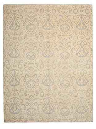 Darya Rugs Ikat Oriental Rug, Light Beige, 8' 2