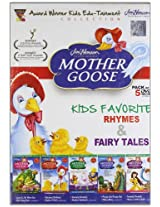 Mother Goose (Set of 5 DVDs- Kids Favorite Rhymes & Fairy Tales)