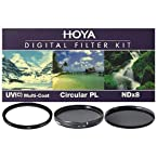 Hoya 52mm Digital Filter Kit With UV, Circular Polarizer, NDX8