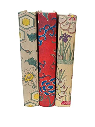 By Its Cover Hand-Rebound Set of 3 Floral Decorative Books, IV