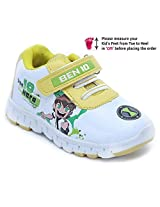 Ben 10 Sports Shoes Mock Lace - Yellow And White