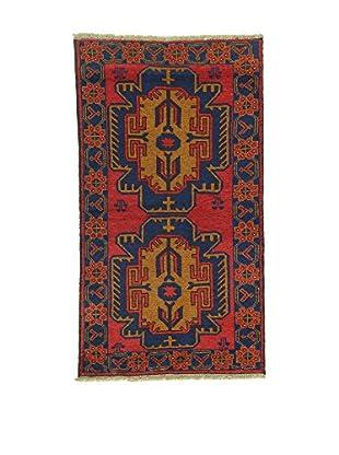 L'Eden del Tappeto Teppich Beluchistan rot/dunkelblau 150t x t85 cm