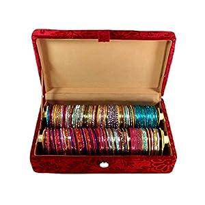 2 Rolls Bangle Box Velvet Coated Jewelry Case